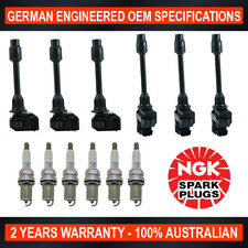 6x NGK Platinum Spark Plugs & 6x Swan Ignition Coils for Nissan Maxima A32