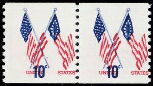 1519, Huge Red Color Shift Error Pair Mint VF NH 10¢ - Stuart Katz