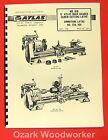 ATLAS/CRAFTSMAN 6' Metal Lathe NO. 618 Instructions & Parts Manual 0051