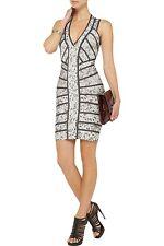 HERVE LEGER Rose Print SAVANNAH Bandage Dress NWT Size:M~Ret:$2,205~AUTHENTIC!!!