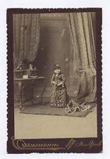 1880's-1890's EISENMANN CABINET CARD PHOTO MIDGET HENRIETTE MORETZ