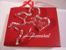 RARE NEW in BOX w/ pouch BACCARAT Crystal 1995 NOEL Ornament FREE USA Shipping