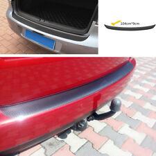 Carbon Fiber Look Car Trunk Sticker Waterproof Vinyl Protection Decal 3D Black