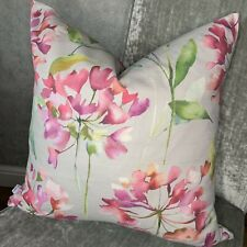 "Designer Cushion Cover 16"" Voyage Clovelly Raspberry Stone Beautiful"