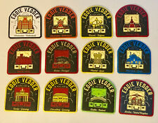 EDDIE VEDDER 2019 EUROPEAN TOUR - COMPLETE SET of 12 PATCHES and PINS! PEARL JAM