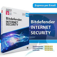 Bitdefender Internet Security 2021 1, 3, 5, 10 PC - 1, 2, 3 Jahre - Code / Key