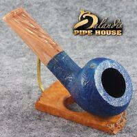 BALANDIS Original Sandblasted Briar Handmade Tobacco Smoking pipe MARIACHI Opal