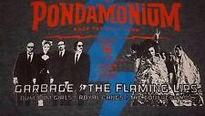 Pondamonium Concert with GARBAGE & The FLAMING LIPS T-Shirt Small Dum Dum Girls