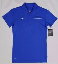 Nike Dri-Fit Polo Shirt - NCAA Championship Blue Mesh Polo Shirt - Womens Small