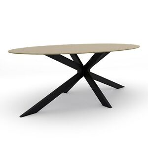 Carson Light Oak Oval Dining Table- Seats 6