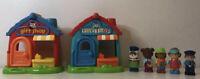 ELC Happyland Village Bundle Play Set Gift Shop Toy Shop and 5 Figures