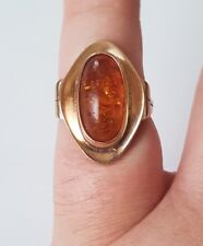 Rose Gold Amber Ring Handmade! Look