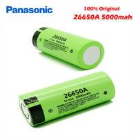 1X Panasonic 100% Original New Battery 26650 3.7V 5000mAh 26650A Flat Top Cell
