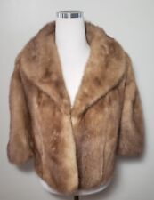 Vintage 1930s Mink Jacket Shawl Flemington Fur Co Flemington NJ