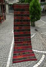 Handmade Oriental Turkish Runner Rug, Vintage Runner, 28 x 102 inc Wool Red Rug