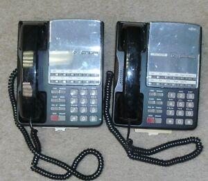 Lot of 2 Fujitsu F10B-0787-B002#BK HAC REV 14C Office phone sets
