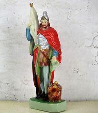 "Saint ST Florian Statue Plaster Patron of Firefighters Firemen HTF 18.5"""