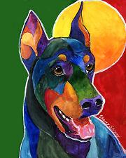 Party Doby 8X10 Doberman Dog Print from Artist Sherry Shipley