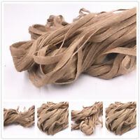 5M Natural Jute Hessian Burlap Ribbon Rustic Weddings Strap Decor Floristry