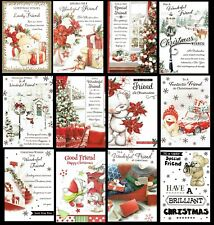 FRIEND ~ Quality CHRISTMAS Card ~ Great CHOICE of DESIGNS