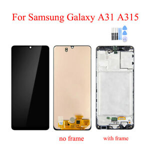 OEM For Samsung Galaxy A31 2020 A315 LCD Display Touch Screen Digitizer + Frame