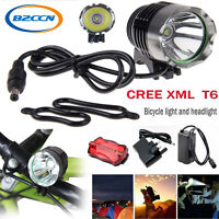 5000LM 3Modes CREE T6 Waterproof LED Front Bicycle Bike Light Headlamp + Battery