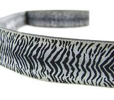"""2 Yds Zebra Silver Grey Stripe Woven Jacquard Ribbon Trim 1 1/8""""W"""