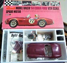 REVELL VINTAGE 1/24 1/25 FORD COBRA '64 SLOT RACE CAR KIT CHASSIS BOX INS + COX
