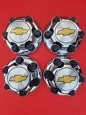"2000-2010 CHEVY 1500 Truck Van 16"" 17""  6 LUGS Chrome WHEEL Center Cap set ""NEW"""