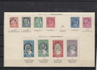 albania 1928 overprints mounted mint + used stamps cat £50+ ref 7621