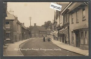 Postcard Ringwood nr Burley New Forest Hampshire 1916 Southampton Road RP Rood