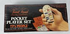 Vintage 1987 Trivial Pursuit Pocket Player Set - Play Anywhere Without A Board