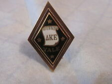 Large Antique 14K Solid Gold Yale Delta Kappa Epsilon Fraternity Pin Badge