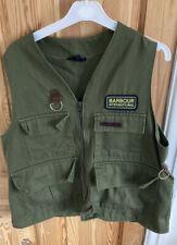 Mens L Very Rare Green Barbour shooting walking  Fishing Gilet Vest
