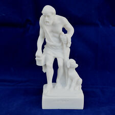 """Ancient Greek philosopher Diogenis """"The Cynic"""" alabaster statue artifact"""
