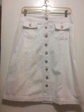 White Aline Skirt Button Front Size 6