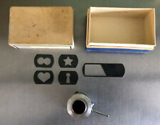 Vintage Meopta iris / diaphragm lens attachment, shaped photo frame templates