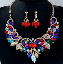 Set Jewelry Pendant Betsey Johnson Fashion Enamel Crystal swan Necklace Earring