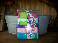 FADED GLORY GIRLS BRIEFS UNDERWEAR 5 PACK SIZE 12 DAY OF THE WEEK THEME SCHOOL