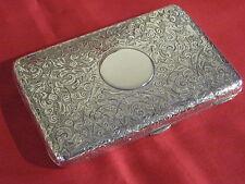 SUPERB 1892 SAMPSON MORDAN SILVER VICTORIAN CARD CASE,PURSE & SILVER PENCIL.