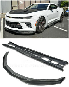 For 16-Up Camaro SS | EOS T6 Style CARBON FIBER Front Lip Splitter & Side Skirts