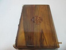 Holy Bible Wooden Cover King James Version Red Letter Edition Jerusalem