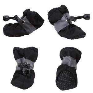 4Pcs/set Dog Pet Cute Rain Boots Waterproof Protective Anti-slip Boots Shoes WE