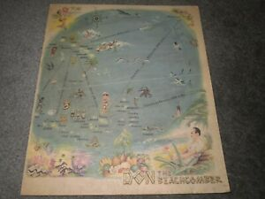 DON THE BEACHCOMBER HOLLYWOOD 1941 MENU Vintage Original!