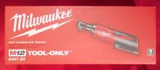 MILWAUKEE M12 12V 2457-20 3/8 RATCHET 35 FT/LB 250 RPM, TOOL ONLY - NEW IN BOX!