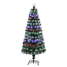 New 6FT Fiber Optic Artificial Christmas Tree Colorful LED Light Decorated