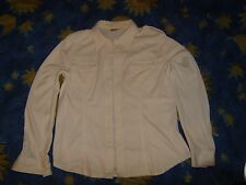 Ladies cream/white long sleeve blouse almost vintage 1980s XL from Scandinavia