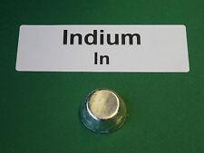 ( 750 €/kg) Indium Schmelzperle 10 g + Analysenzertifikat 99,99% Reinheit