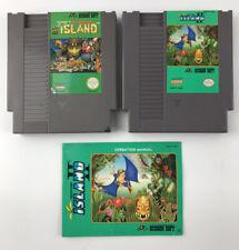 Adventure Island 1 & 2 NES Authentic Nintendo Games— Manual -