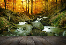 Art wall Forest waterfall Decor Landscape Oil painting Picture Print on canvas